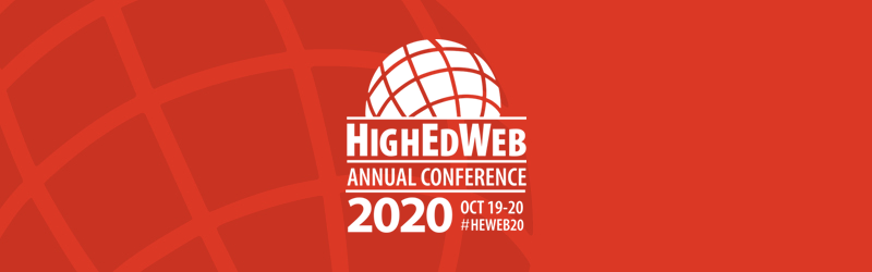 HighEdWeb 2020 Annual Conference: Oct. 18-19 #HWeb20